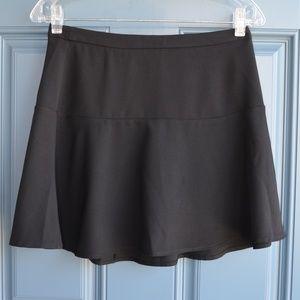 Black Ruffled A-Line Skater Skirt by Forever 21